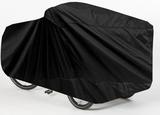 Bakfietshoes - Cargo Fiets met 3 Wielen met regentent - Zwart - A-kwaliteit