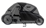 Bakfiets Hoes - Cargo 2 Wieler met regentent - Zwart - A-kwaliteit