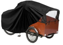 Bakfietshoes - Cargo Fiets 3 Wielen met regentent - Zwart - A-kwaliteit