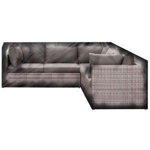 Loungesethoes L vorm 260x260x100x70cm