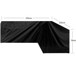 Loungesethoes L Vorm - 235x235x90x70 cm